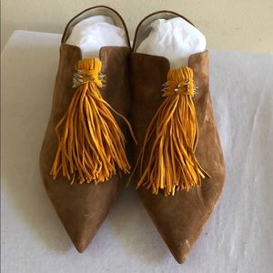 CHRISTIAN LOUBOUTIN Tassel Suede Loafers